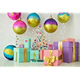 Yeele 10x8ft Christmas Backdrop for Photography - Photo Background - Xmas Tree Gift Decoration Ball Photo Background Party Banner Decoration Child Kid Adult Portrait Shooting Studio Props Wallpaper (Color: Y2BK09106, Tamaño: 10x8ft)
