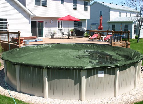 21 Round Superior Above Ground Swimming Pool Winter Cover W 5 Ft Overlap 12 Year Warranty
