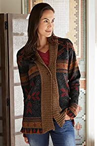 Tey-Art Heritage Alpaca Shawl Collar Fair Trade Cardigan