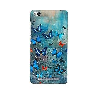 iSweven Printed _redmi3S_3178 Color Full Butterfly Design Multicolored Matte finish Back case cover for Xiomi Redmi 3S