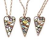 Bird Mosaic Heart Necklace by Angela Ibbs