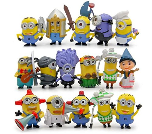 16pcs/lot Minion Mini Figures Toys Despicable Me 2 3D Minions Cosplay PVC Action Figure Anime Figurines Model Toy Gifts for Kids
