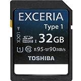 【32GB】 東芝/TOSHIBA EXCERIA Type1 CLASS10 UHS-I対応 読み出し95MB/s、書き込み90MB/s SDHCカード (日本製) 海外リテール SD-H32GR7WA9