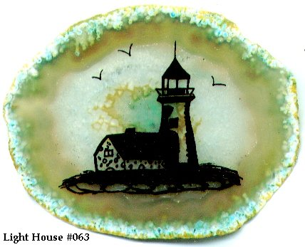 Brazilian Rock Decorative Night Light Lighthouse