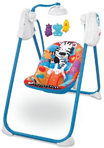 Fisher-Price Fold 'n Stow Swing, Adorable Animals