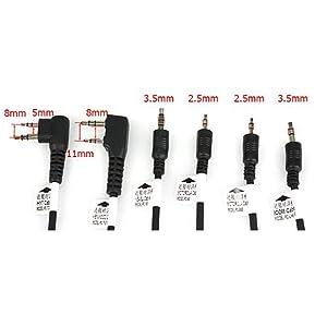 Retevis 6 in 1 USB Programming Cable Compatible Motorola HYT ICOM Baofeng BF-888S UV-5R Kenwood Yaesu Walkie Talkies (1 Pack) (Color: Black)