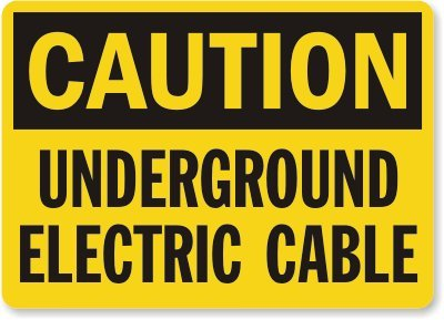 "Smartsign Aluminum Sign, Legend ""Caution: Underground Electric Cable"", 7"" High X 10"" Wide, Black On Yellow"