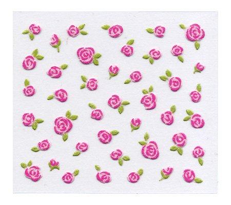 bibi deco ネイルシール biー100P ブリティッシュローズ ピンク