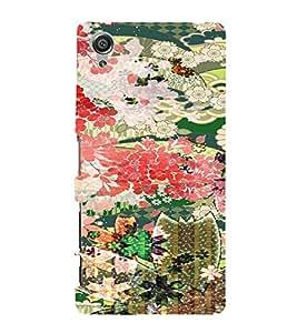 PrintVisa Girly Ethnic Flower Design 3D Hard Polycarbonate Designer Back Case Cover for Sony Xperia X