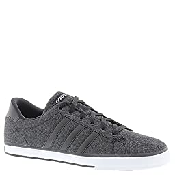 adidas NEO Men\'s SE Daily Vulc Lifestyle Skateboarding Shoe,Black/Black/White,10 M US
