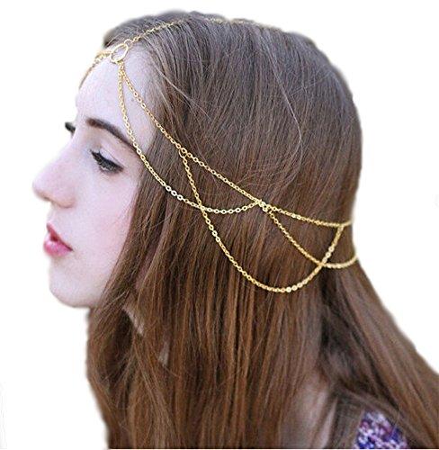 greek goddess crown chain head chain hair accessory high