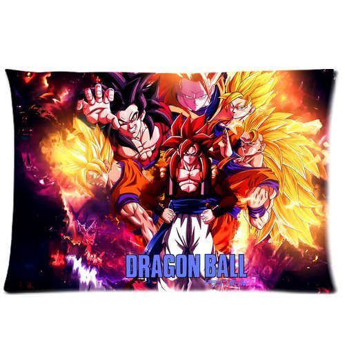 Mystic Dragon Ball Z Custom Zippered Pillowcase Pillow Cases Cover 20*30 inches Standard Size Super Cartoons Anime Series