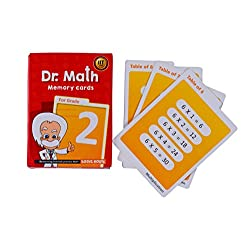 Dr Math (Grade 2) - Memory Flash Cards for Grade 2 Kids for Concepts, Clarity and Recall