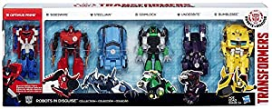"""Transformers Robots in Disguise Robots in Disguise Collection 5"""" Action Figure 6-Pack [3-Step Changer]"""