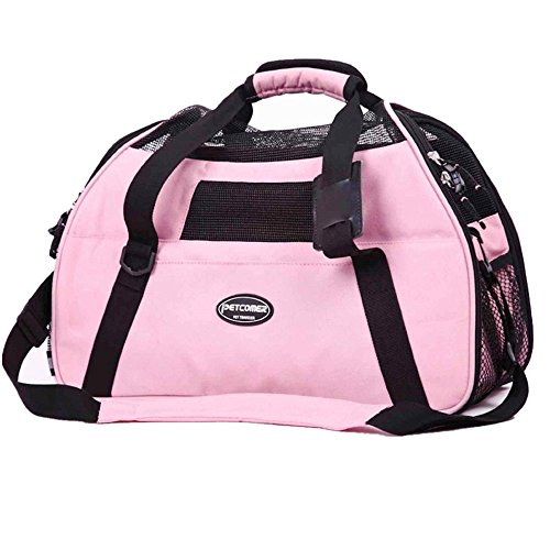 Pettom Pet Carrier for Dogs & Cats Comfort Airline Approved Travel Tote Soft Sided Bag