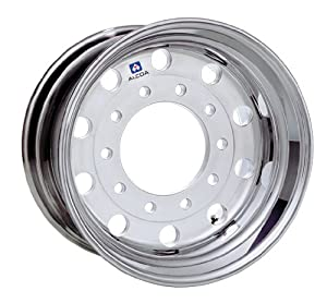 "22.5"" X 13"" Hub-Piloted Alcoa Aluminum Wheel, 10-285.75mm Bolt Circle (Machine Finished)"