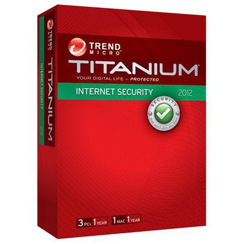 Trend micro titanium internet security 2012 3 users