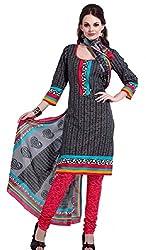 HIFI Ethnicwear Women's Dress Material(HIFI 3207_Black_Free Size)