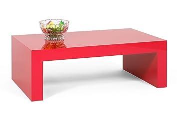 Tisch Couchtisch Beistelltisch Kaffeetisch Wohnzimmertisch Hochglanz Rot mod. FIRST H30