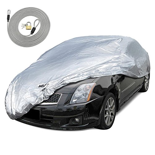 Motor Trend All Season WeatherWear 1-Poly Layer Snow proof, Water Resistant Car Cover Size S - Fits up to 157