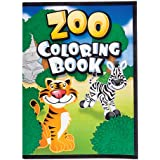 12 Page Zoo Animal Coloring Books (package of 12 books)