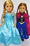 FROZEN INSPIRED ELSA AND ANNA LIKE GOWNS FOR AMERICAN GIRL DOLLS