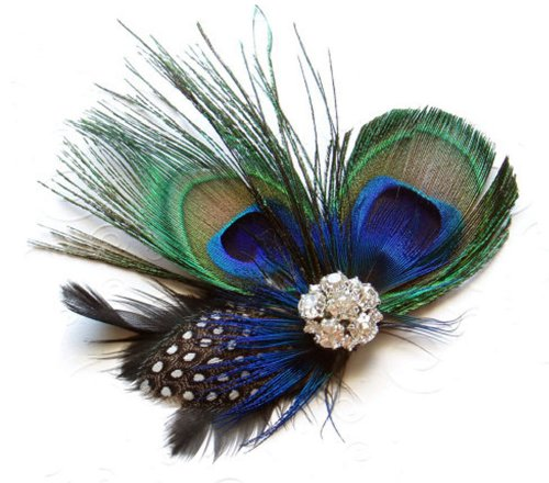 Leegoal Cute Peacock Feather Hair Clip