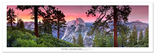 Award Winning Landscape Panoramic Art Print Poster: Yosemite National Park (Sunset) (Yosemite Picture compare prices)