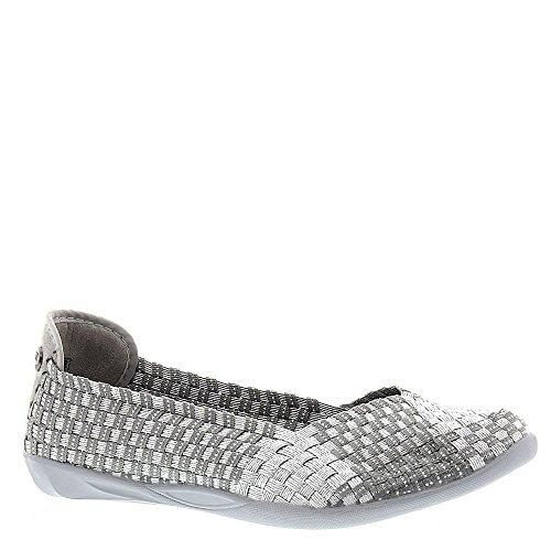 Bernie Mev Women Catwalk Slip-On Flats Shoes (39 M EU, Silver/Grey)