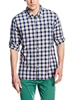 Scotch & Soda Camisa Hombre (Gris Claro / Azul)
