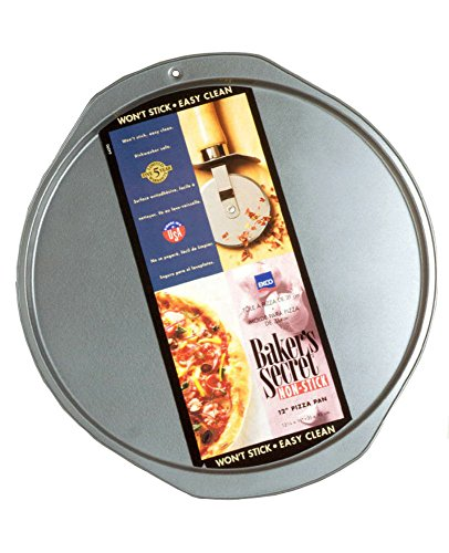 "Baker'S Secret Pizza Pan Dw Safe 12"" X 0.35"" Non Stick Gray"