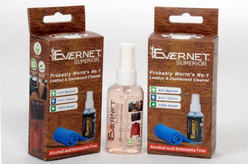 Evernet Superior Leather & Dashboard Cleaner Kit, 100% Herbal