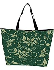 Snoogg Seamless Floral Pattern Abstract Background Waterproof Bag Made Of High Strength Nylon - B01I1KJU1K