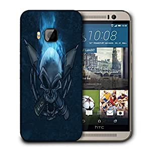 Snoogg Pencil Skull Designer Protective Back Case Cover For HTC ONE M9