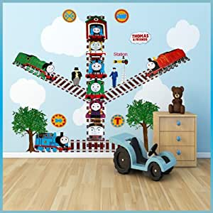 thomas the tank engine wall stickers decor decal art for kids nursery. Black Bedroom Furniture Sets. Home Design Ideas