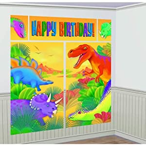 Prehistoric Dinosaur Giant Scene Setter Wall Decorating Kit Birthday Party