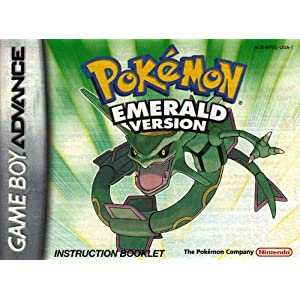 Pokemon Emerald Version GBA Instruction Booklet (Game Boy ...
