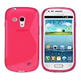 Fosmon DURA S Series Flexible TPU Cover for Samsung Galaxy S3 III mini / i8190 - Light Pink