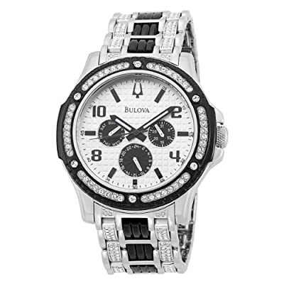 Bulova Men's 98C005 Crystal Day-Date Watch from Bulova
