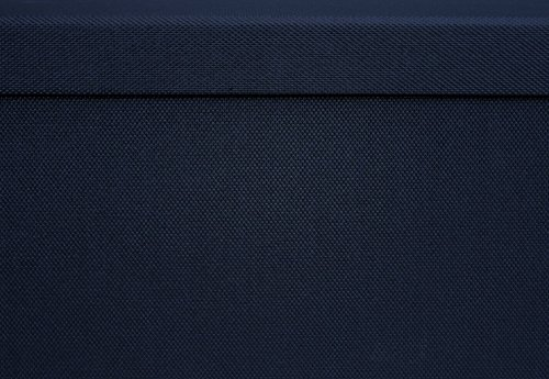 """Pop n' Store Decorative Storage Box With Lid  - Collapsible and Stackable - Medium Square Box - Navy Blue - Interior Size (9.75""""x9.75""""x5.75"""")"""