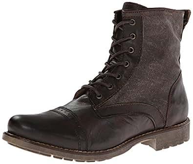 Steve Madden Men's Madsen Combat Boot, Brown Multi, 11.5 M ... Steve Madden Combat Boots Men