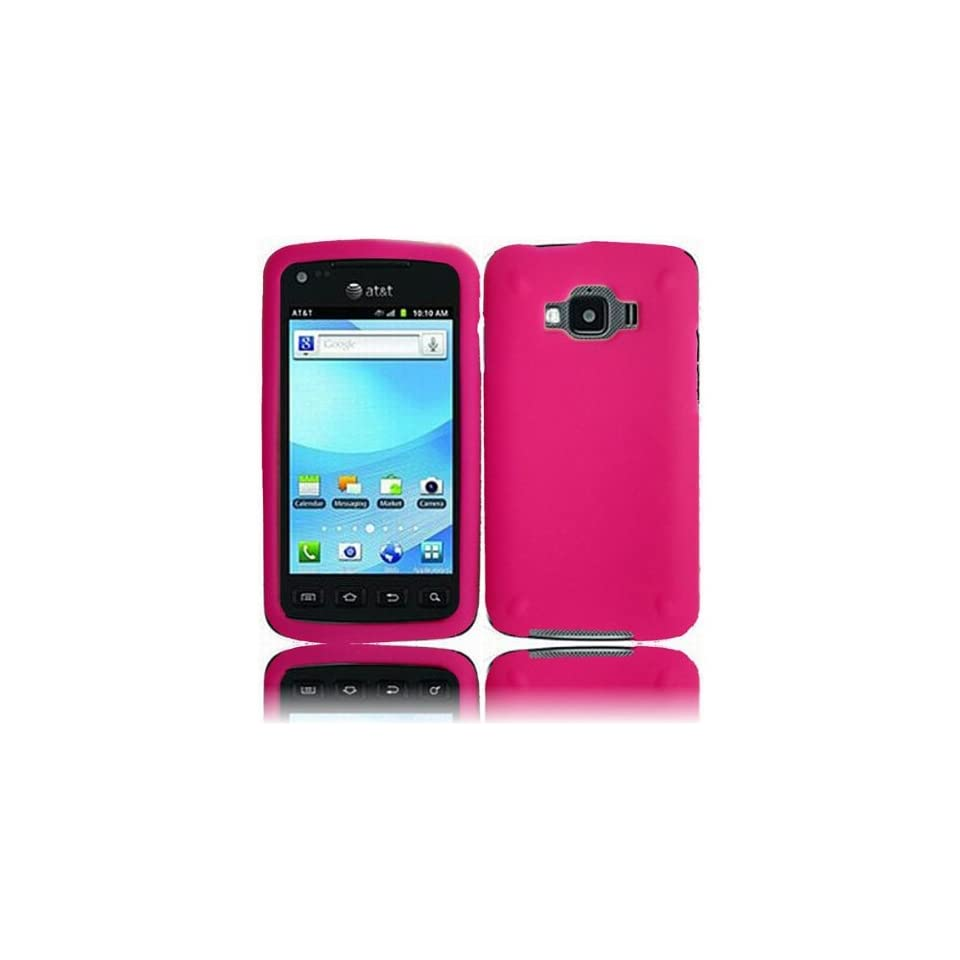 Hot Pink Soft Silicone Gel Skin Cover Case for Samsung Rugby Smart SGH I847 Cell Phones & Accessories