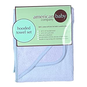 American Baby Company Cotton Terry Hooded