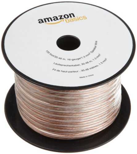 AmazonBasics 16-Gauge Speaker Wire – 100 Feet