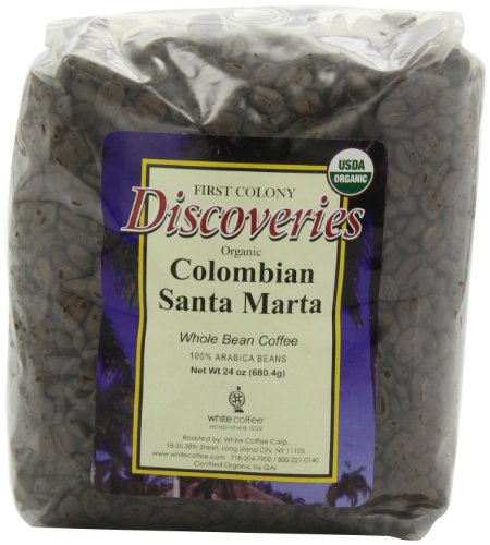 First Colony Organic Whole Bean Coffee, Colombian Santa Marta, 24-Ounce (Coffee Beans Whole Foods compare prices)