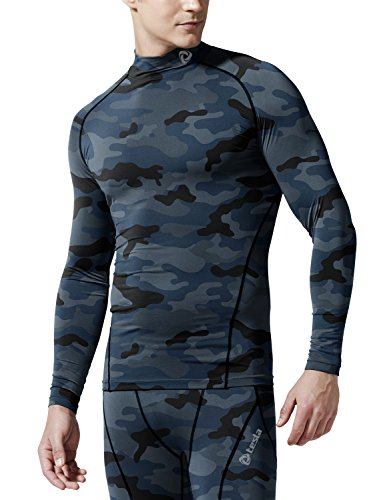 TM-T11-CBKZ_Large j-XL Tesla Men's Cool Dry Compression Baselayer Mock Long Sleeve T Shirts T11 (Cool Gears compare prices)