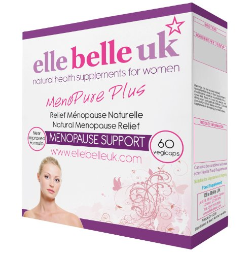 Elle Belle UK - MenoPure Plus - Natural Menopause Treatment - Safe HRT Alternative - Natural Cure For Hot Flushes & Nightsweats - Free UK Delivery