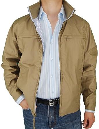 Stay Cool with a Modern Sport Coat 1 Jacket 2 Looks Cotton Reversible Summer Coat Seersucker Tan Navy Blue Stripe (S)