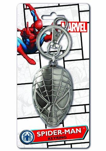 Marvel Spider-Man Head Pewter Key Ring