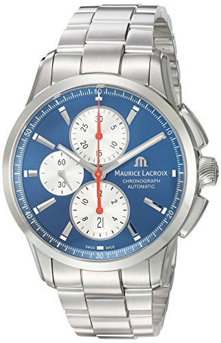 Maurice-Lacroix-Mens-Pontos-Swiss-Automatic-Stainless-Steel-Casual-Watch-ColorSilver-Toned-Model-PT6388-SS002-430-1